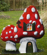 decorverhuur Decorstuk paddenstoelen, sprookjesdecor